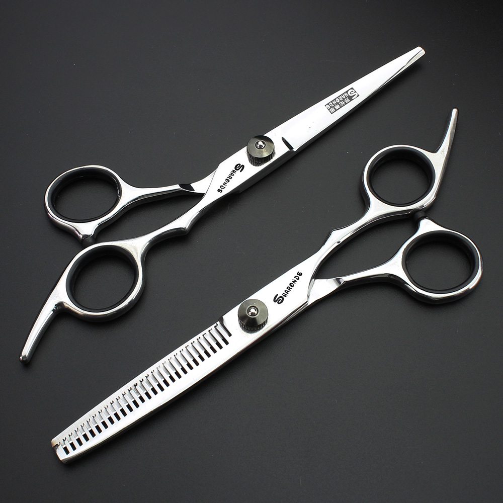 The new 6-inch high hardness scissors professional hairdresser modeling design hairdressing scissors set free shipping