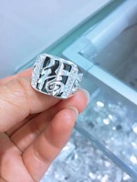 JOOCHEER Sterling S990 silver 990 ring wedding party trendy romantic classic man male rings engagement Natural stone