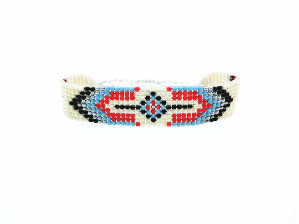 AMIU Handmade Seed Beads Friendship Bracelet Beaded Custom Mix-Colour Eye Friendship Bracelets For Women Men 2019 Dropshipping