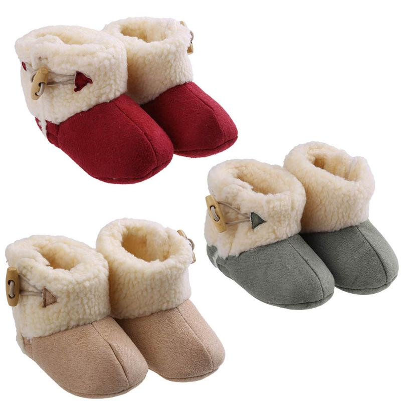 Cute Ball Winter Boots Fashion Soft Bottom Baby Moccasin Baby First Walkers Baby Warm Boots Non-slip Boots for Baby Girls