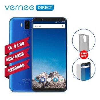 D'origine Vernee X 4 gb 64 gb RAM ROM 6200 mah 6.0 pouce Écran Téléphone Portable Téléphone 9 v/2A charge rapide Type-C Visage ID Mobile Téléphone
