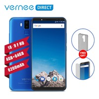 Original Vernee X 4GB 64GB RAM ROM 6200mAh 6.0 Inch Screen Cellphone Telephone 9V/2A Quick Charge Type C Face ID Mobile Phone