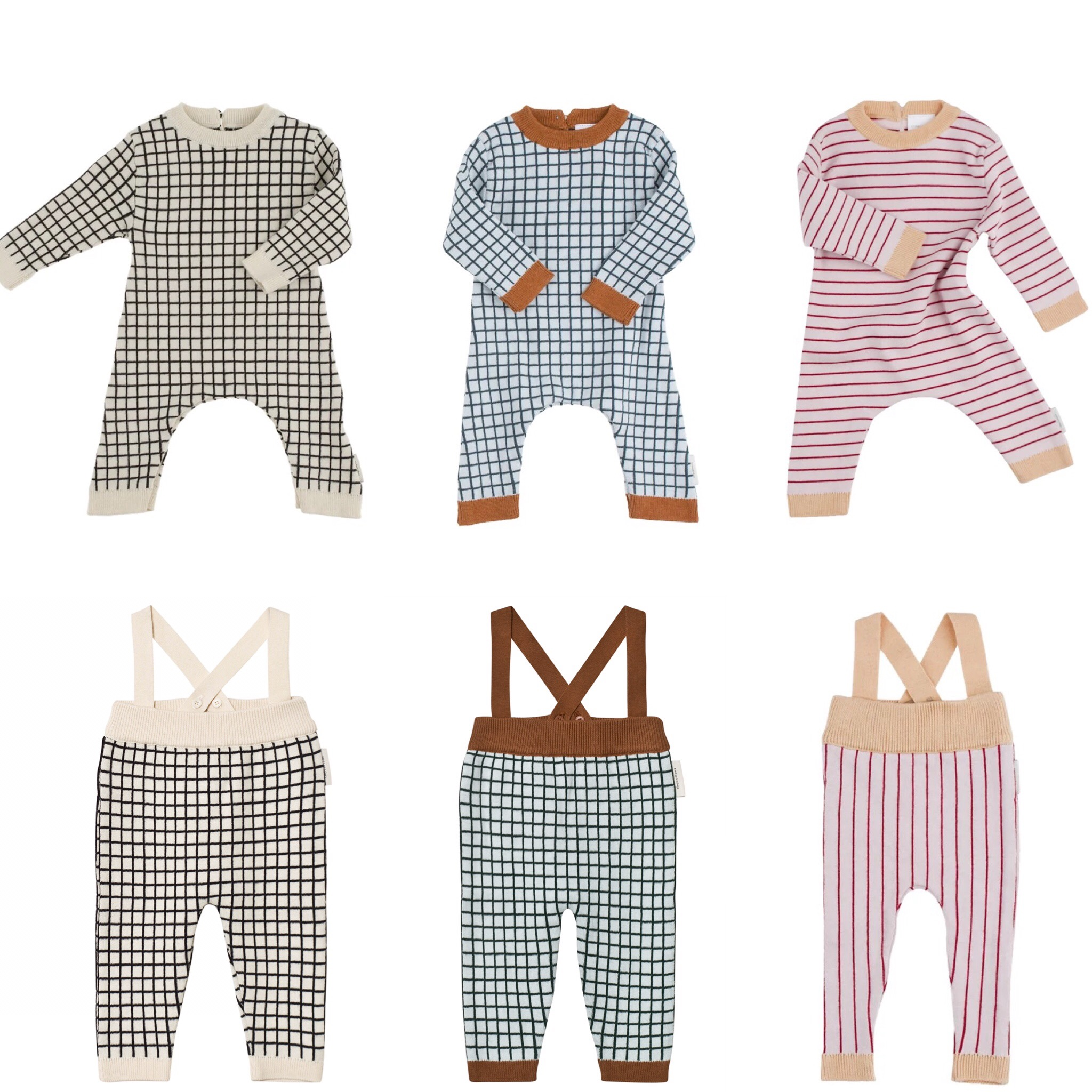 2018 Spring Baby Rompers Boys Girls Cotton Plaid Jumpsuits Newborn