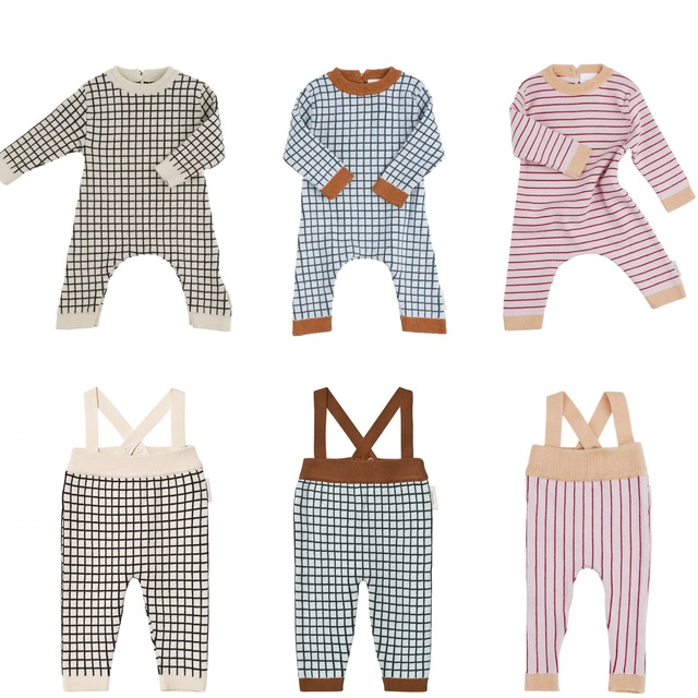 6ac0efbcc932 2018 Spring Baby Rompers Boys Girls Cotton Plaid Jumpsuits Newborn ...