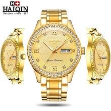 Haiqin Fashion Diamond trim Quartz Mens Watches Top Brand Luxury men w