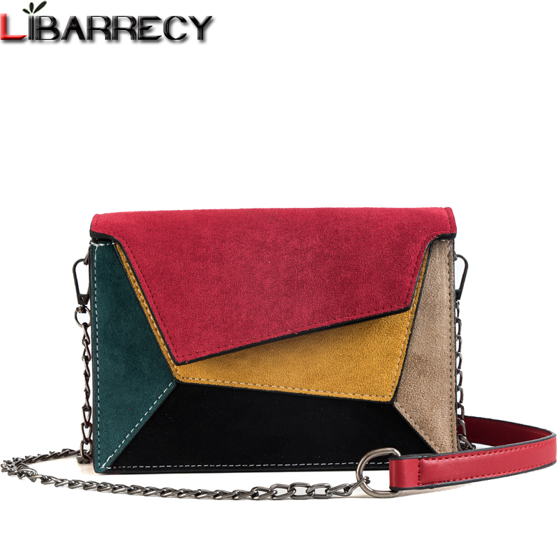 617f5d5e0ad1 Fashion Panelled Shoulder Bag Female Famous Brand Leather Messenger Bag  Simple Small Crossbody Bags for Women 2018 Clutch Purse