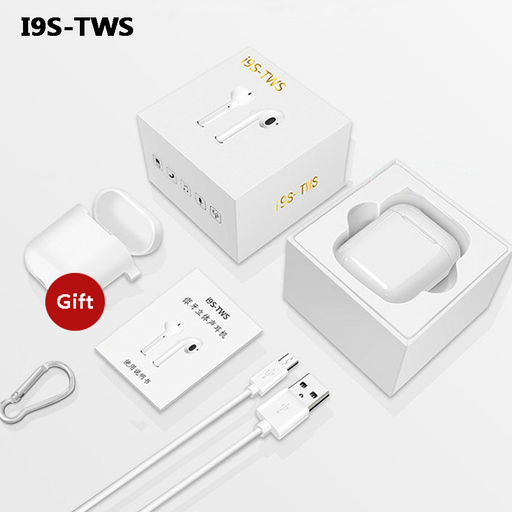 I9s TWS Wireless Earphone Mini Hands Free Earbuds Portable Bluetooth Headset With Mic In-Ear For IPhone X 8 7 Plus 6s Android все цены