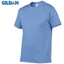 цены на GILDAN Solid color T Shirt Mens Black And White 100% cotton T-shirts Summer Skateboard Tee Boy Skate Tshirt Tops European size в интернет-магазинах