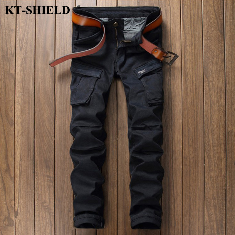 New Arrival Fashion Black Jeans Men Vaqueros Hombre Brand Slim fit Denim Trousers Cotton Pocket Casual