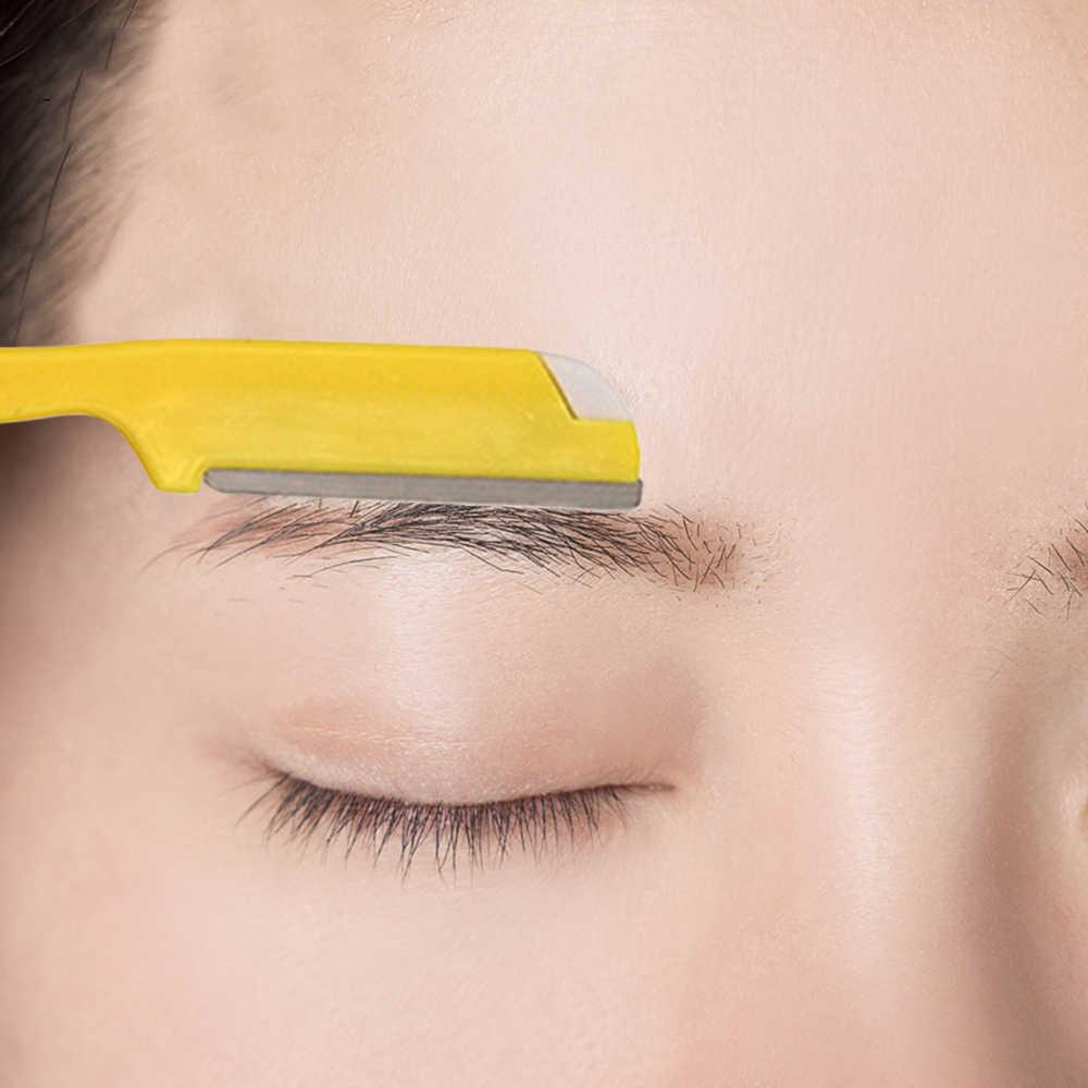 1 adet Katlanır Değiştirilebilir Kaş Düzeltici Tıraş Makinesi Kaşları Bıçak Seti Yüz Kaş Saç Çıkarıcı Güvenlik Jilet Taşınabilir