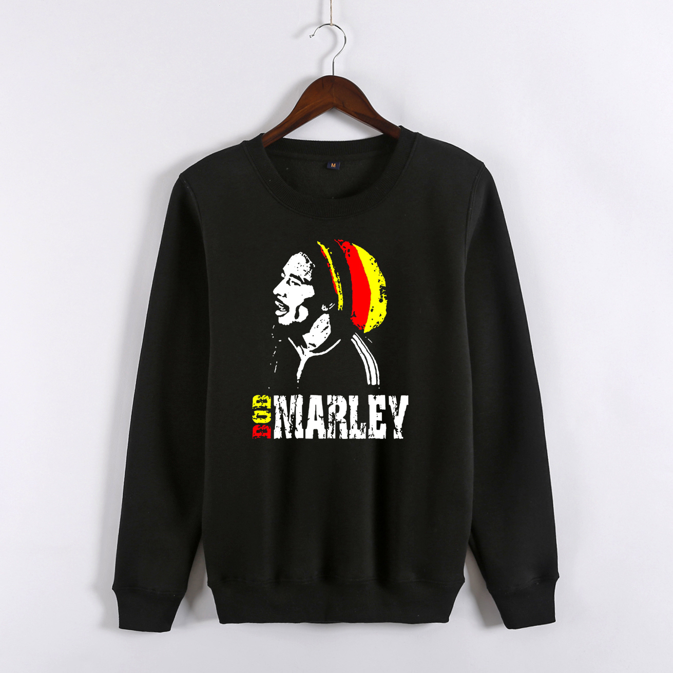 Autumn winter thickening outerwear Jamaican Reggae Print men s clothing casual bob marley long sleeve pullover