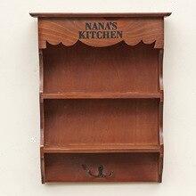 Comestibles hogar diario Vintage antiguo estante de madera Decoración Para sala de estar taquillas murales accesorios para decoración del hogar
