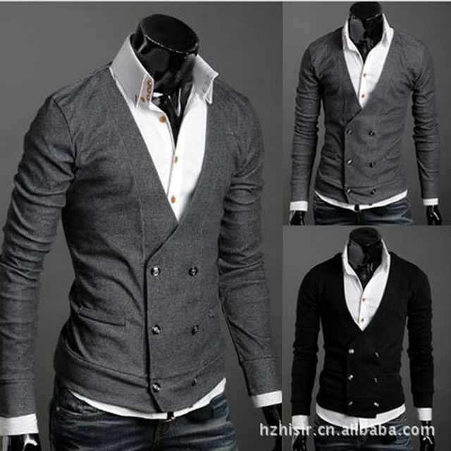 Autumn summer double-breasted abb cardigan sweater coat of cultivate one's morality casual and business sweater coat