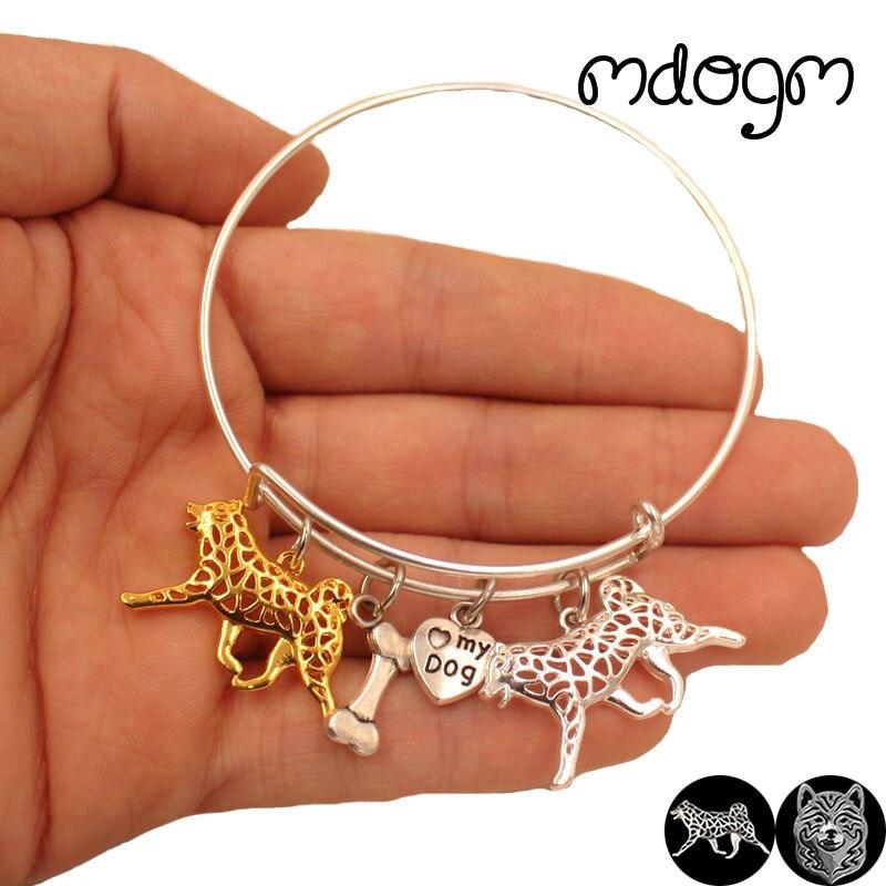 2018 Hot Sale Animal Bracelet Bangles Shiba inu Dog Love Alloy Metal Men Women Cute Fashion Male Female Girls Jewelry Gift S117