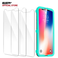 Screen Protector For IPhone X 5 8 Inch ESR 3Pack 5X Stronger Tempered Glass Protector Free