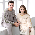 Autumn And Winter Coral Fleece Sleepwear Female Thickening Pullover Lovers Lounge Men Long-sleeve Flannel Set