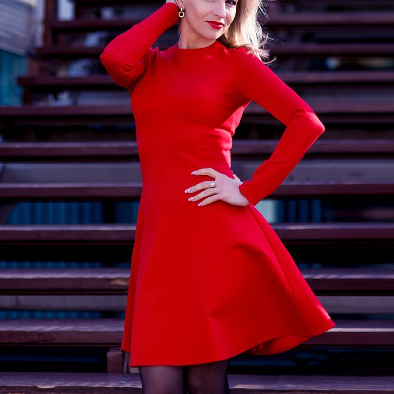 6f3a0ee883 Women Long Sleeve Bodycon Party Dresses Autumn Winter Slimming Elegant  Temperament Quality Mini Dress 1