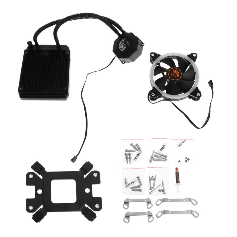 tablet Liquid Freezer Cooling System CPU Cooler Fan Fluid Dynamic Bearing Radiator Kit