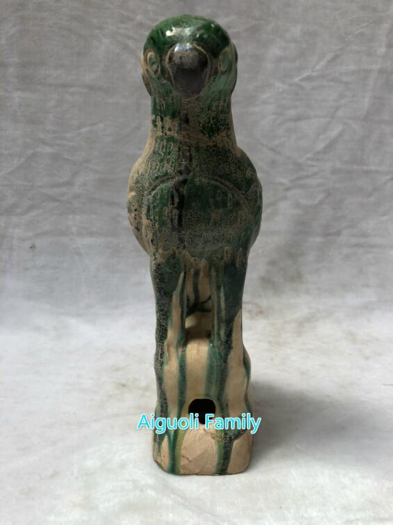 Art Collection chinois Antique en céramique perroquet Statue décoration de la maison ancienne porcelaine oiseau Sculpture hauteur 26 CM/10 pouces - 2