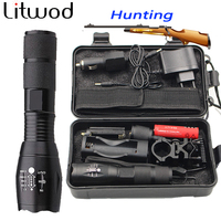 Z10 CREE XM L L2 Led Tactical Flashlight Zoomable Torch For Hunting Light Battery Remote Switch