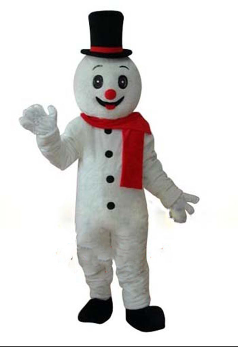 Helmet Snowman Mascot Costumes Walking Cartoon Apparel Birthday Party Advertisement Costumes Halloween Fancy DRESS Christmas