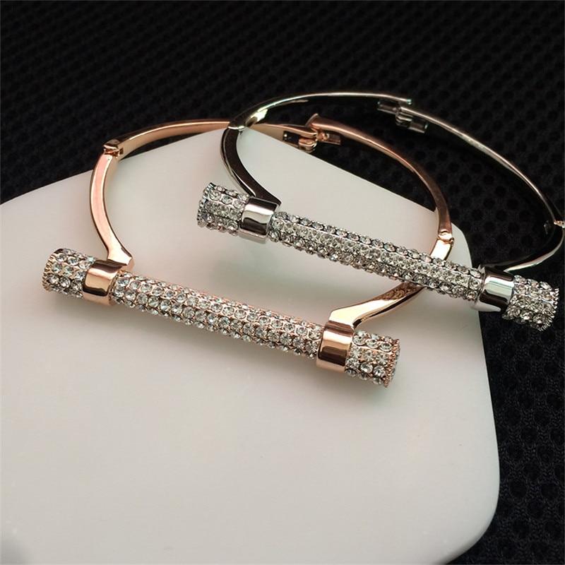 Cuff Bracelet Female Jewelry for Women Bracelets Accessoires Homme Punk Cool Letter D Bangles