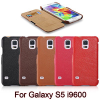 5 Colors Best Icarer Original Brand Litchi Cowhide Natural Skin Genuine Leather Phone Cover Case For