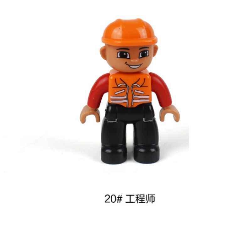 Vergrendeling Duplo Mama en Papa Oom Tante Familie Karakter Model Blok Duploblokje Educatief Speelgoed Kind Legoings