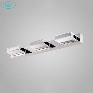 Image 4 - L16/35/50/68cm Mirror light led bathroom wall lamp modern chrome cabinet iluminacion led vanidad passpiegels luz de espejo luces