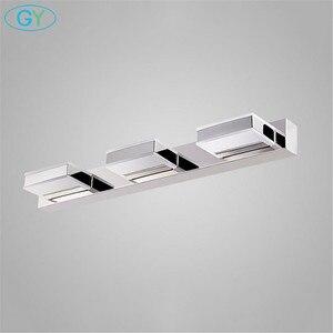 Image 4 - L16/35/50/68cm espelho luz led banheiro lâmpada de parede moderna armário cromo iluminacion led vanidad passpiegels luz luces