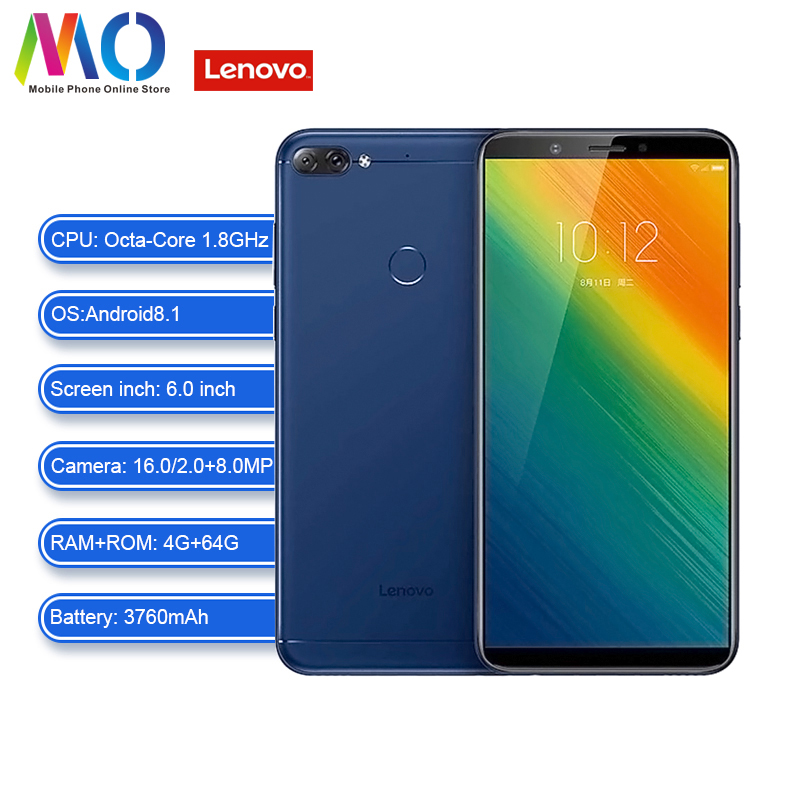 Lenovo K9 Note Phone Global Version Smartphone Android Unlocked Cell Phone 4GB 64GB 6.0Inch 18:9 Octa-core Smart Phone