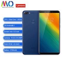Lenovo K9 Примечание телефонном глобальном версия смартфона Android разблокирована сотовый телефон 4 GB 64 GB 6,0 дюймовый 18:9 восьмиядерный смартфон