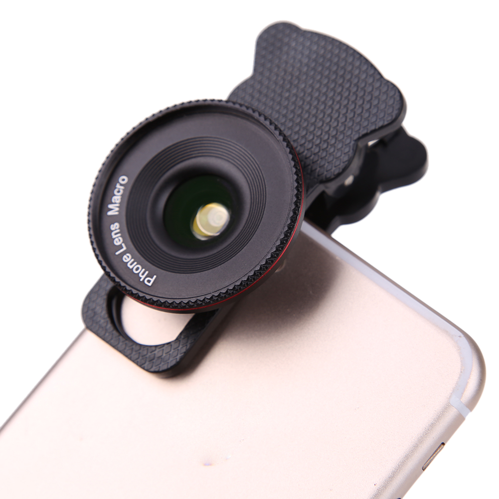 Alloet 2 in 1 Phone Macro Lense, Clip On HD 4k Super 20x Macro Lenses for Mobile Phone Microscope Photograph Lens For Sumsung