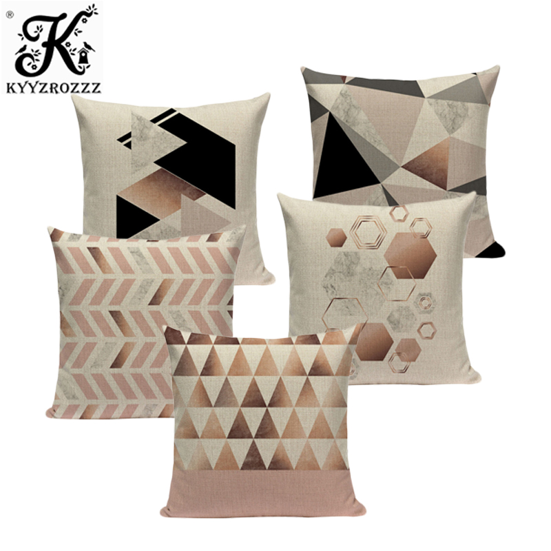 Case geometric pillow cushions for sofa decorative 45Cmx45Cm Square pillows cushion cover Custom throw