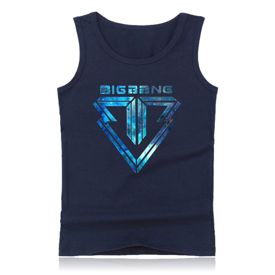 Bigbang Plus Size Summer Casual Cotton Tank Tops Muscle For Men And Bigbang Mens Hot Sale GD Bodybuilding Sleeveless Tank Tops
