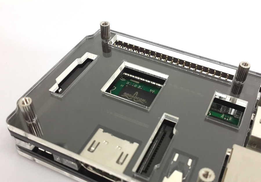 B Plus Black Case Cover Shell Enclosure Box Transparent Double Color Latest Raspberry Pi 2 Model B