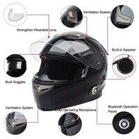 Новинка 2017 года мотоцикл Bluetooth Smart Шлем Мотоцикл интеграл/половина уход за кожей лица Встроенный FM Интерком устройства Поддержка 2 всадников