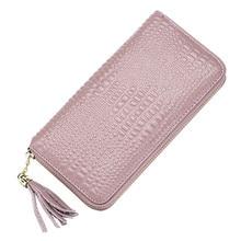 2018 New Genuine Leather Wallet Women Lady Long Wallets Women Purse Female 5 Colors Women Wallet Card Holder Day Clutch DC249