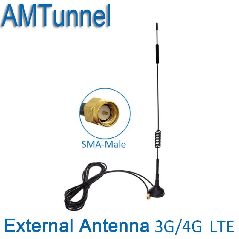 4G Antenne SMA antenne 3G WCDMA antenne LTE antenne 12dBi 700-2700 MHz pour Huawei 4G routeur wifi routeur et modem