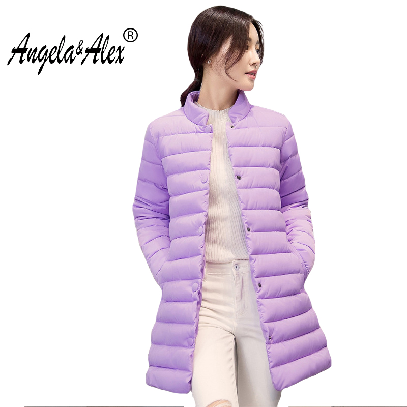 2017 winter jacket long coat new loose straight Korean fancy candy color long paragraph down cotton parka Warm Outerwea yagenz 2017 new soft sister winter coat korean version of the long paragraph down jacket cotton winter thick loose cotton