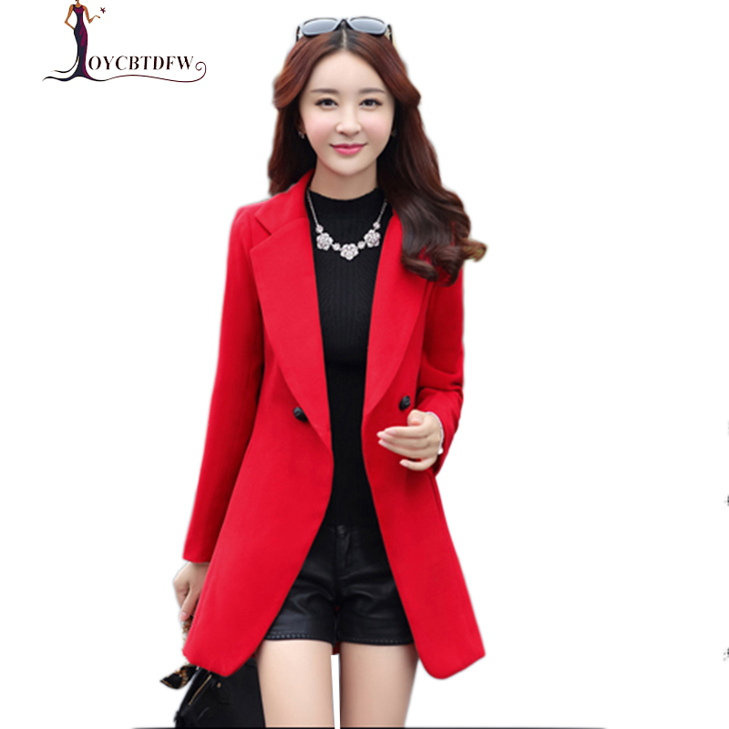 Large Size Autumn Winter Women Big Red Double-sided Cashmere Wool Coat 2018 Chaqueta Fashion Woolen Coat Female Casaco 3XL N306
