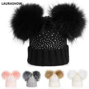 9a2eadfe9ce LAURASHOW Winter Knit Hat Skullies Beanies Wool Cap