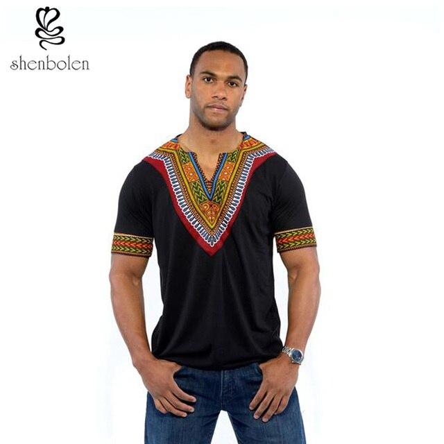 2016 мужские африканских одежды dashiki стиль хлопок шить воск печать топы человек майка одежда китенге Нигерии стиль