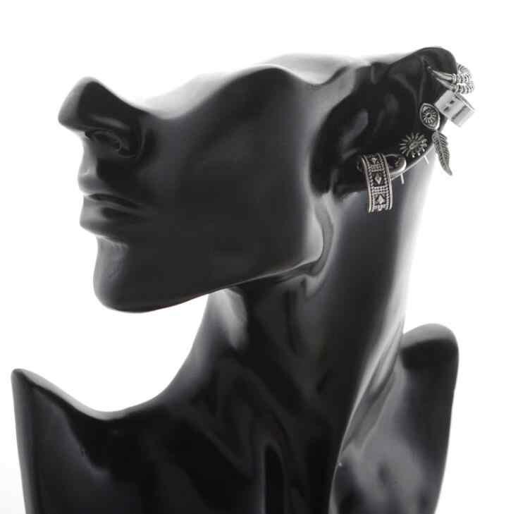 7 Cái/bộ Mặt Trăng và Ngôi Sao, Bông Tai Sun Thời Trang Boho Bạc Lá Stud Earrings Phụ Nữ Bohemian Thiết Kế Bông Tai Phụ Kiện Rất Nhiều