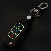 Светящийся кожаный брелок для ключей для Volkswagen POLO Tiguan Passat B5 B6 B7 Gol Golf MK6 EOS Scirocco Jetta MK4 MK5 MK6 Tigua