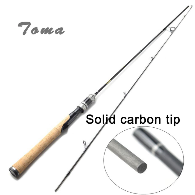 当麻 1.68 メートル炭素繊維ルアーロッド釣り 2 節紡糸ロッド鋳造 562UL 1.5-5 グラムの固形カーボン先端旅行釣竿