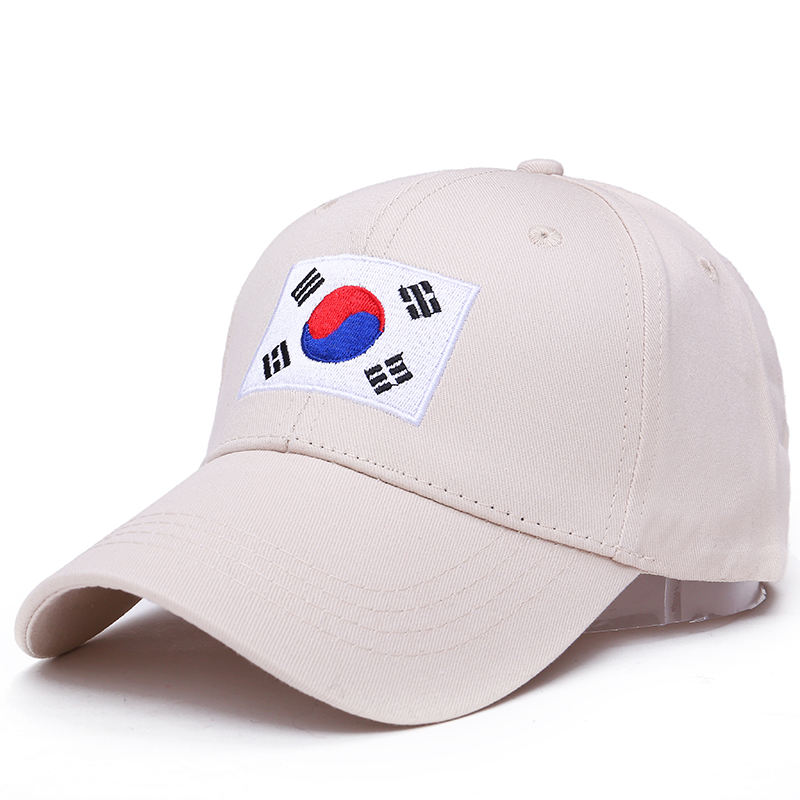 100% Cotton New Korea Flag Ulzzang Harajuku Embroidery Hip Hop Dad Hat Snapback Hat For Men Women Baseball Cap Hot Sale new korea brand hip hop hat