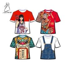Digital Body Printing Anime T-shirt Round Neck Short-sleeved Corporate Propaganda Culture Advertising Shirt Class Graffiti