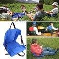 1 pc Almofada Cadeira Dobrável Portátil Cadeira de Praia Ao Ar Livre Peso Leve Grama Camping Caminhadas Pesca Acampamento Almofada de Algodão 35