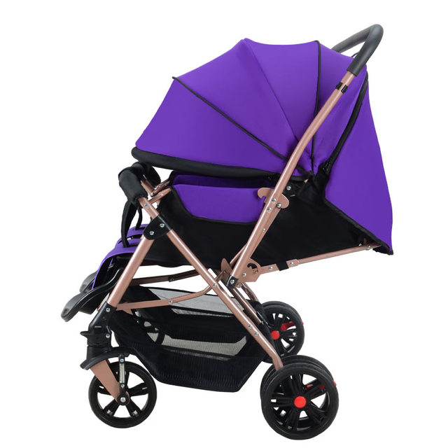 High quality Twin baby two-way cart baby can sit can shock the high landscape trolley can fold baby carriages